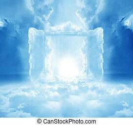 portes, à, paradis