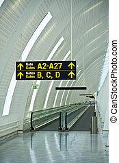 portes, aéroport, guide