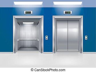 portes, ascenseur