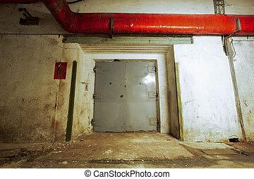 portes ascenseur, fermé