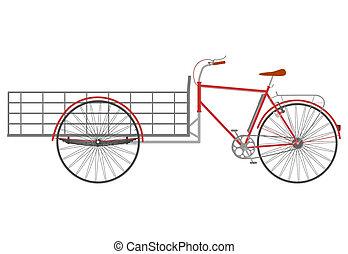 porteur, bike.