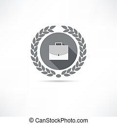 portfölj, ikon