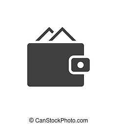 portfel, czarnoskóry, ikona