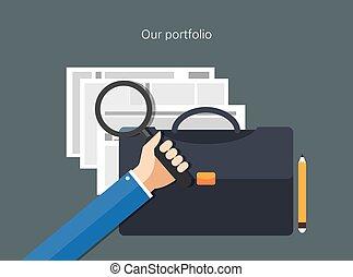 portfolio concept flat design