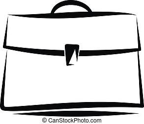 portfolio - Simple vector illustration of a brief case