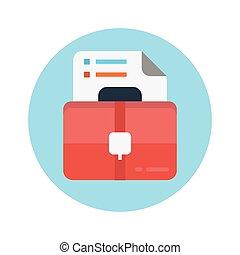 portfolio flat icon