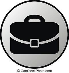 Portfolio icon on white background. Vector illustration.