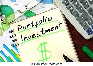 portfolio, investering