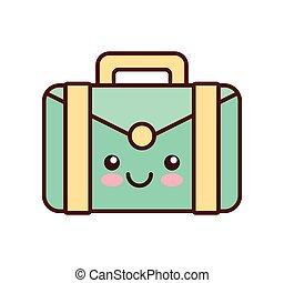portfolio kawaii style business isolated icon vector...