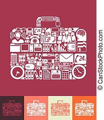 portfolio, pictogram