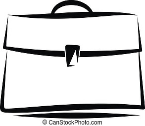 portfolio - Simple vector illustration of a brief case