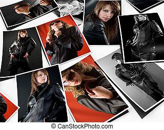Portfolio - Stack of photos on white background