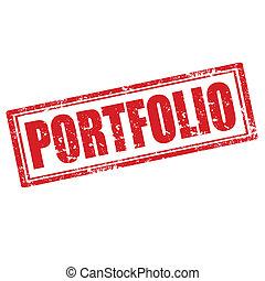 Grunge rubber stamp with word Portfolio, vector illustration