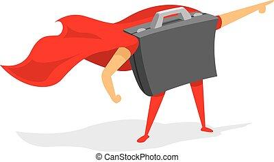 Portfolio standing as business super hero - Cartoon...