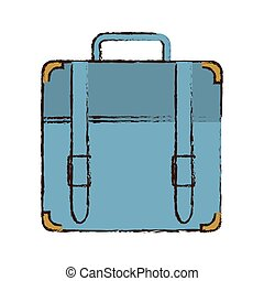 portfolio suitcase travel business color sketch
