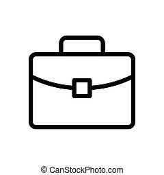 portfolio thin line icon