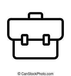 portfolio thin line vector icon