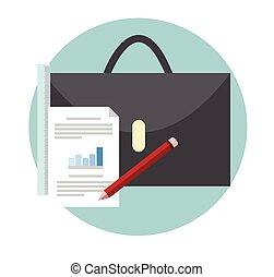 portfolios, conceito negócio, vetorial