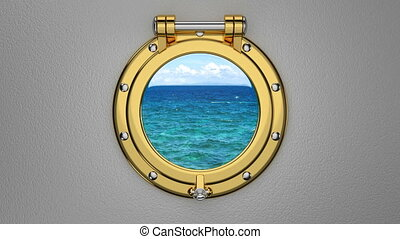 Porthole 3D animation - 3D animation of the boat or ship...