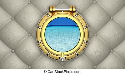 Porthole 3D animation - 3D animation of the luxurious yacht...