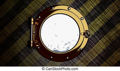 Porthole 3D animation - 3D animation of the porthole of...