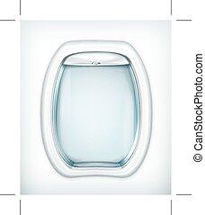 Porthole, transparency effect, isolated on white background