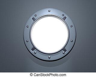 porthole white - porthole metal. window ship. screws. white...