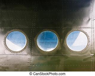 Portholes on old aircraft