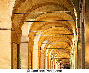Portico di San Luca, Bologna, Italy: the porch that connects...