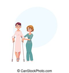 portie, fysiotherapeut, geknars, patiënt