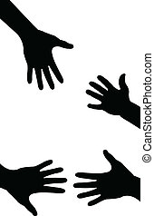 portie hand, delen, gedaan