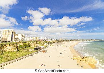 portimao, spiaggia, in, algarve, portogallo