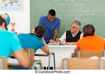 portion, age moyen, prof, étudiant