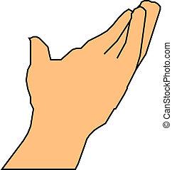 portion, angebot, hand