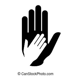 portion, hand.