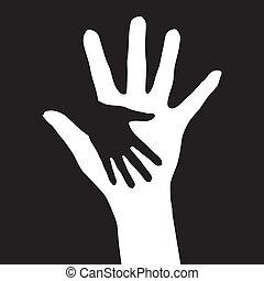 portion, hands.