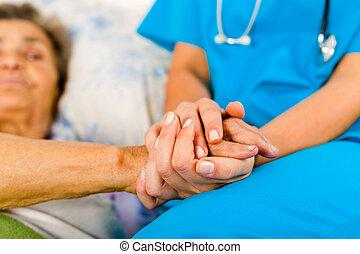 portion, infirmières, personnes agées