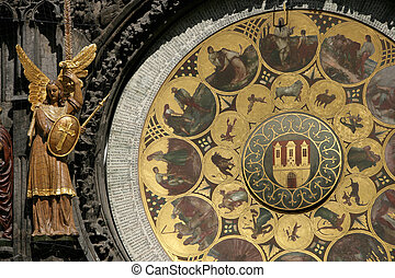 Astrological Clock - Portion of Astrological Clock in Prague...