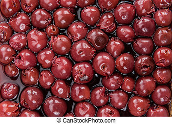 Portion of Canned Cherries , selective focus - Fresh made ...
