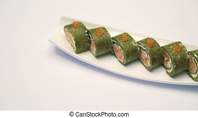 Portion of caviar sushi
