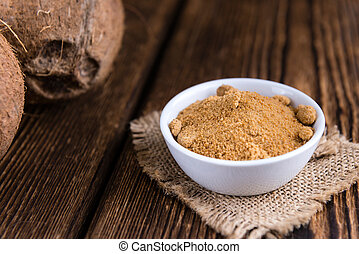 Portion of Coconut Sugar - Portion of golden Coconut Sugar...