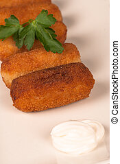 Portion of croquettes