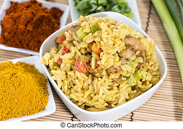 Portion of Curry Rice - Portion of fresh made Curry Rice...