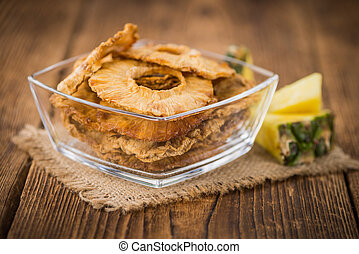 Portion of Dried Pineapple Rings - Dried Pineapple Rings on ...