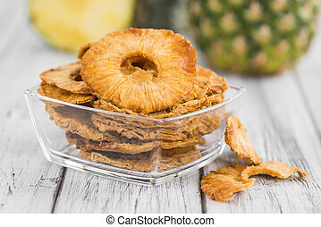 Portion of Dried Pineapple Rings, selective focus - Some ...