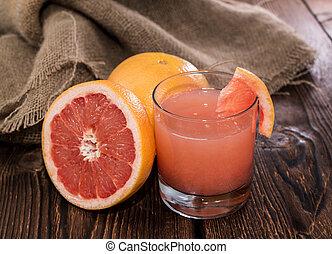 Portion of Grapefruit Juice - Portion of fresh made...
