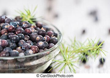 Portion of Juniper Berries - Heap of Juniper Berries...