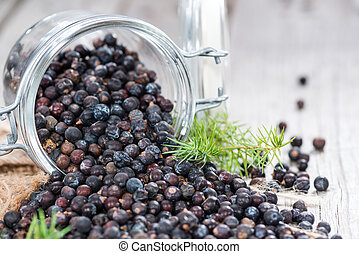 Portion of Juniper Berries - Heap of Juniper Berries...