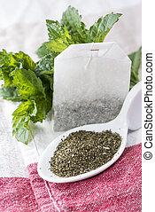 Portion of Mint Tea - Portion of fresh made Mint Tea