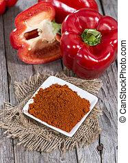 Portion of Paprika Powder (macro shot)